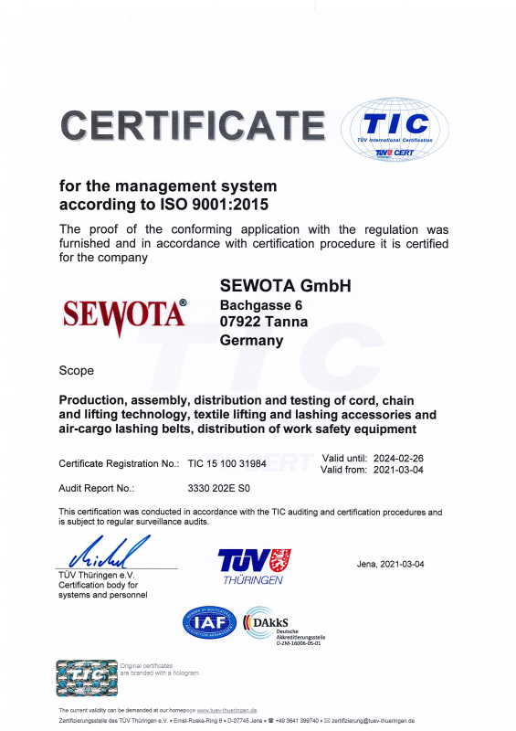 ISO 9001 Certificate 2021 - 2024